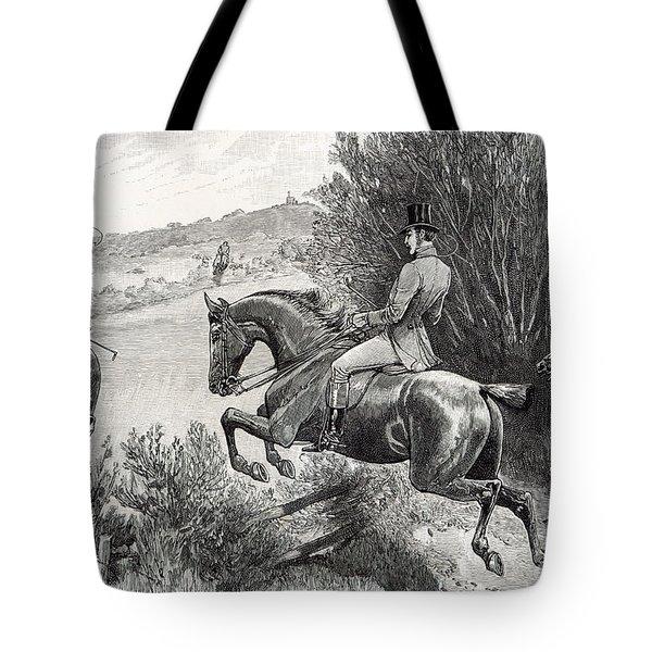 Prince Albert Hunting Near Belvoir Castle  Tote Bag