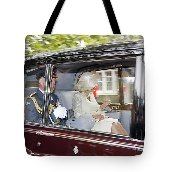 Tote Bag featuring the photograph Prince Charles And Camilla by KG Thienemann