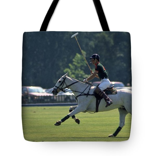 Prince Charles Playing Polo At Windsor Tote Bag