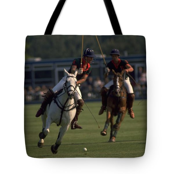Prince Charles Playing Polo Tote Bag