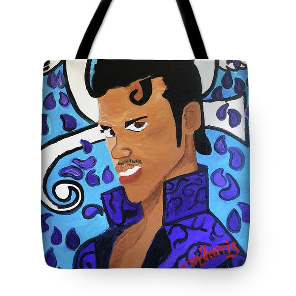 Tote Bag featuring the painting Prince by Christopher Farris