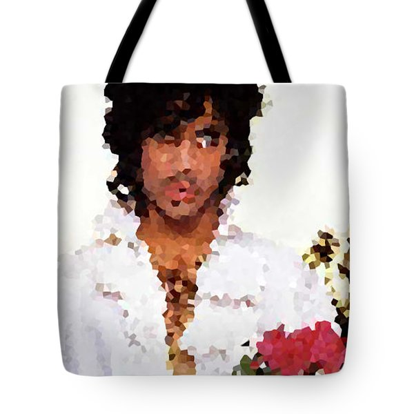 Prince Distorted Tote Bag by Val Oconnor
