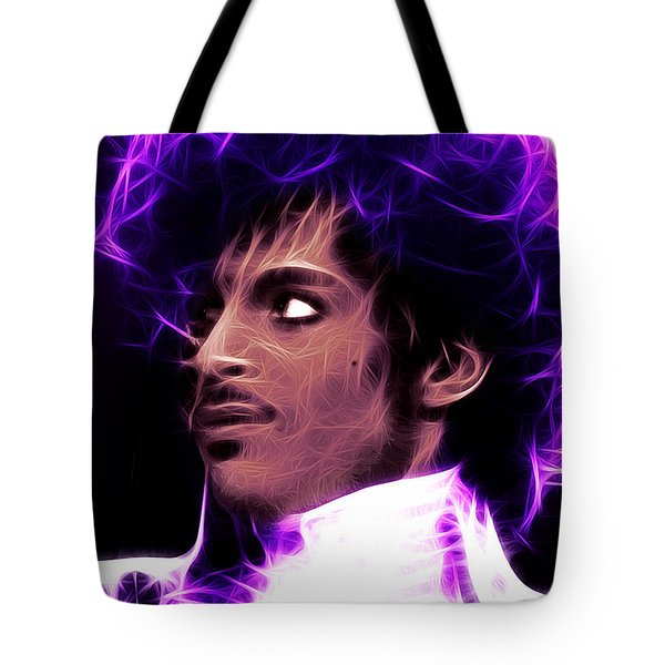 Tote Bag featuring the digital art Prince - His Royal Badness by Stephen Younts