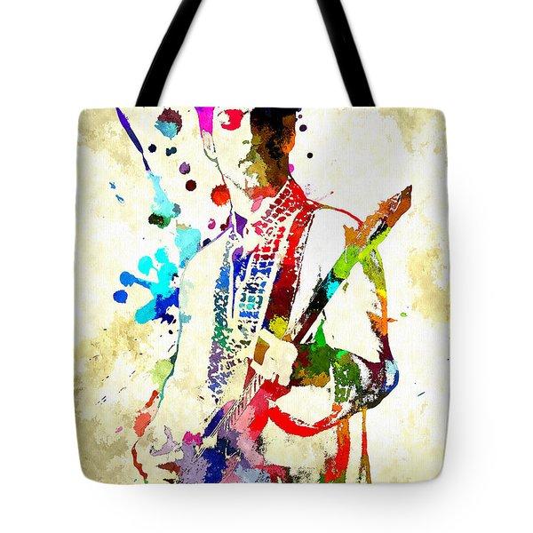 Prince In Concert Tote Bag by Daniel Janda