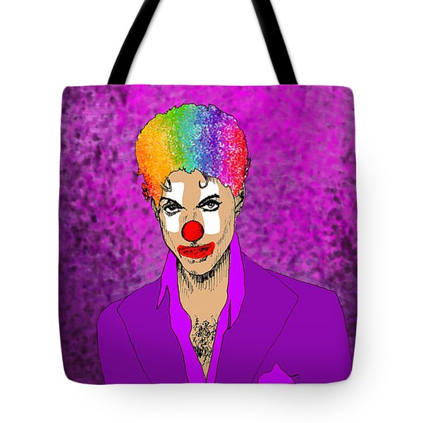Tote Bag featuring the drawing Prince by Jason Tricktop Matthews