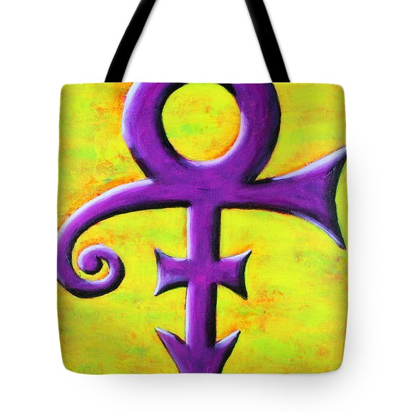 Prince Musician Purple Symbol Tote Bag