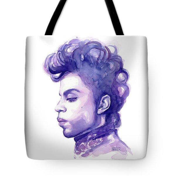 Prince Musician Watercolor Portrait Tote Bag