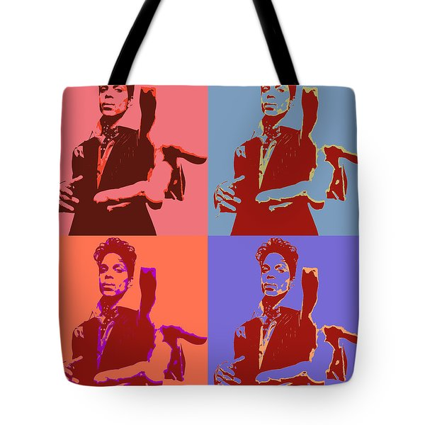 Prince Pop Art Panels Tote Bag