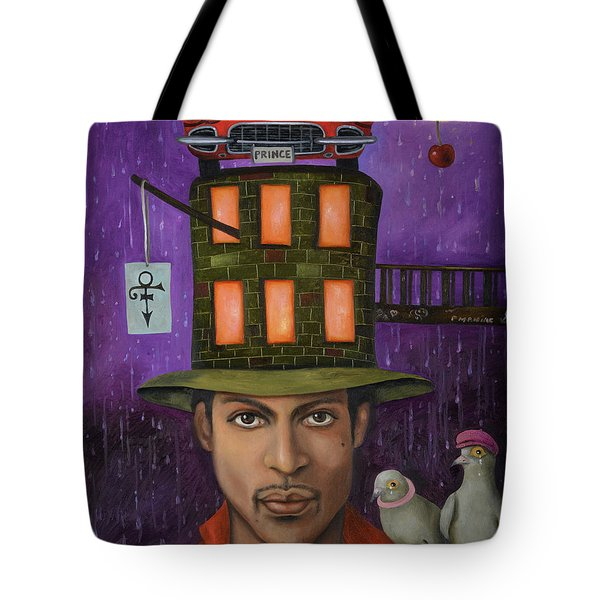 Prince Pro Image Tote Bag by Leah Saulnier The Painting Maniac