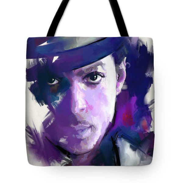Tote Bag featuring the painting Prince by Richard Day