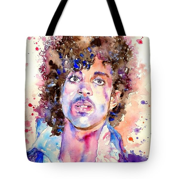 Prince Rogers Nelson Watercolor Tote Bag