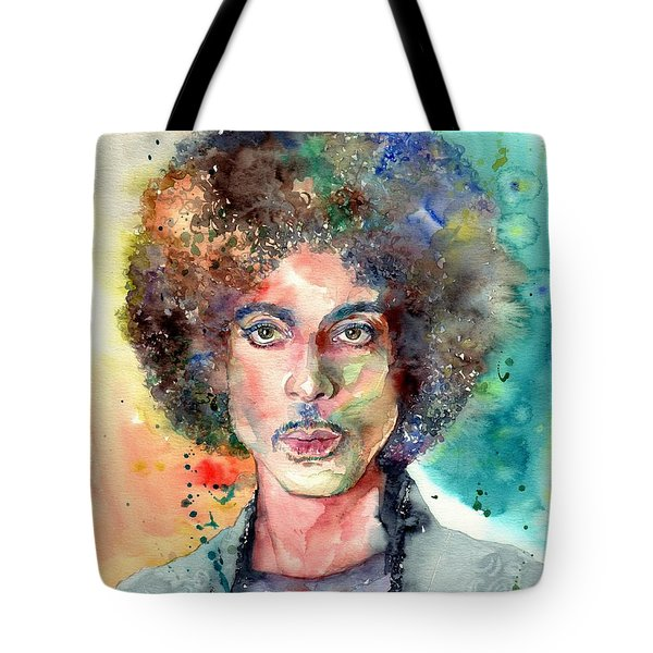 Prince Rogers Nelson Young Portrait Tote Bag