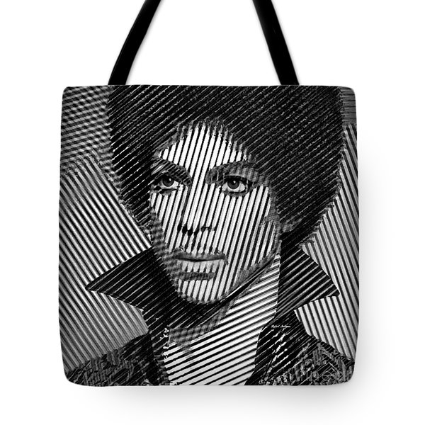 Prince - Tribute In Black And White Sketch Tote Bag