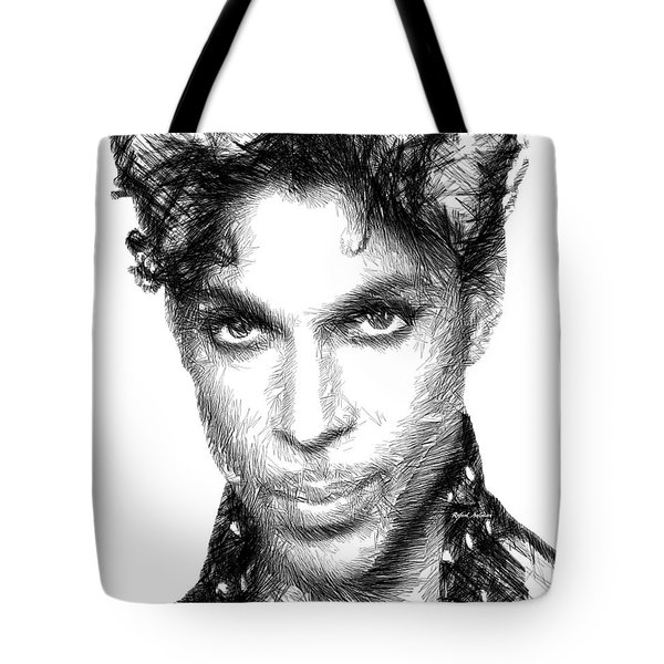 Prince - Tribute Sketch In Black And White Tote Bag