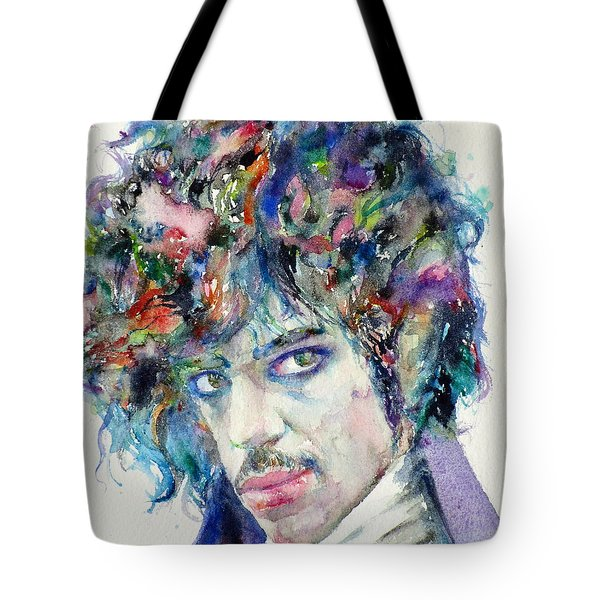 Prince - Watercolor Portrait Tote Bag by Fabrizio Cassetta