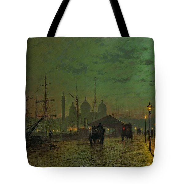 Prince's Dock Hull Tote Bag by John Atkinson Grimshaw
