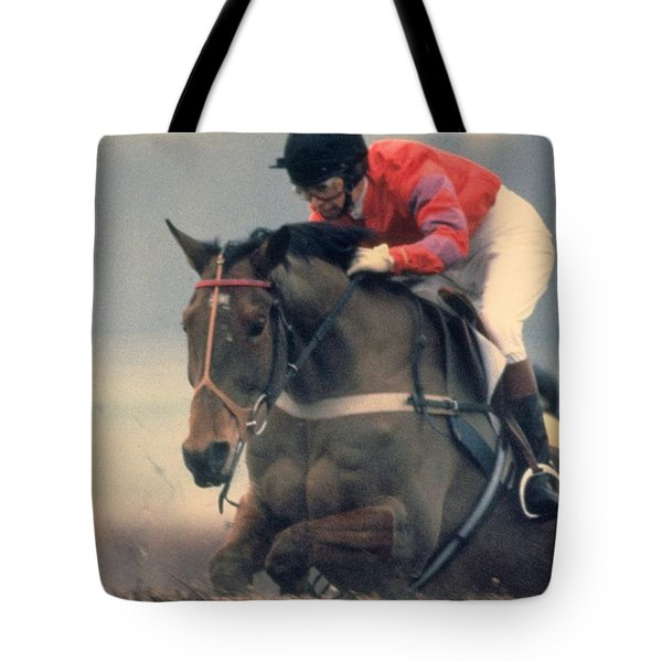 Princess Anne Riding Cnoc Na Cuille At Kempten Park Tote Bag