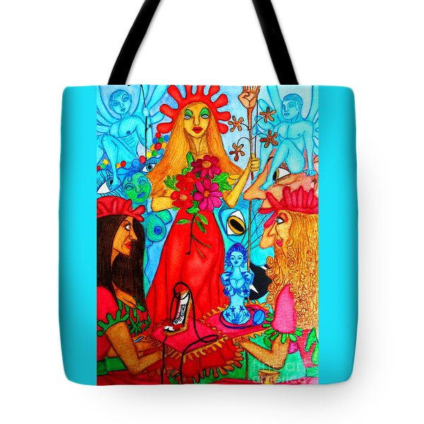 Tote Bag featuring the painting Princess Countrywoman. by Don Pedro De Gracia
