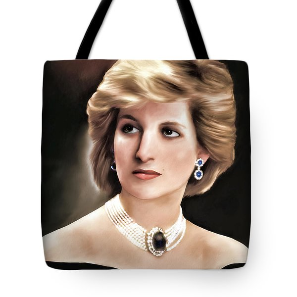 Tote Bag featuring the digital art Princess Diana by Pennie  McCracken