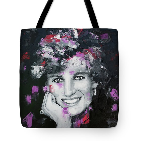 Tote Bag featuring the painting Princess Diana by Richard Day
