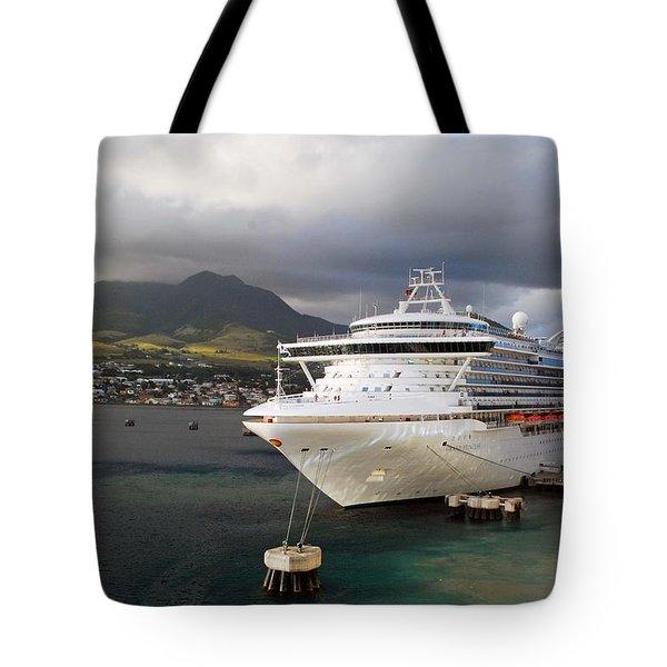 Princess Emerald Docked At Barbados Tote Bag