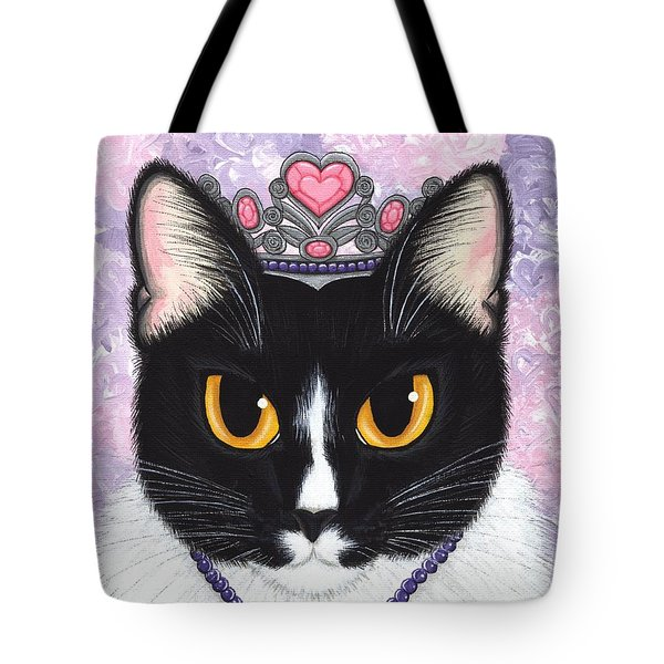 Princess Fiona -tuxedo Cat Tote Bag