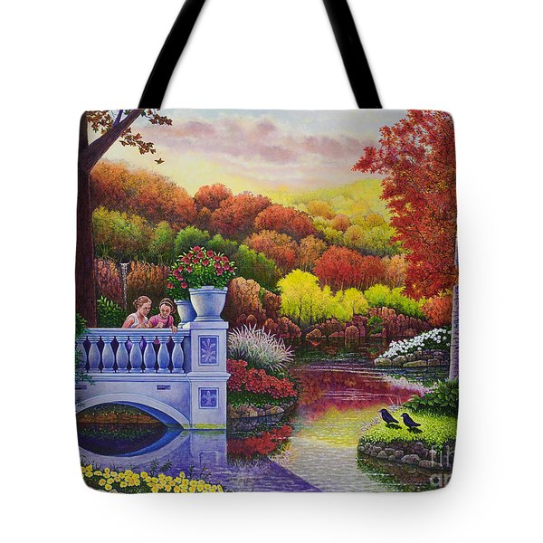 Princess Gardens Tote Bag by Michael Frank