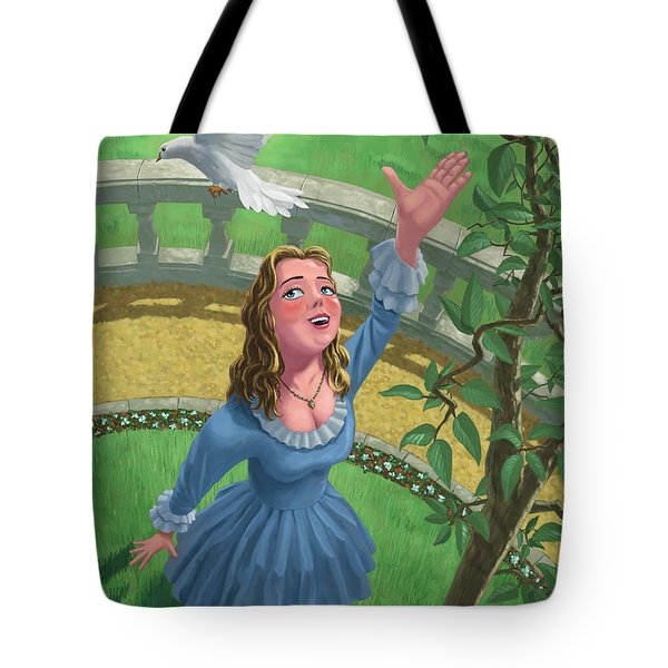 Princess Releasing Bird Tote Bag