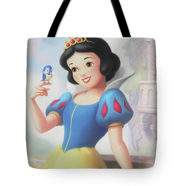 Princess Snow White Tote Bag by The Art Of Marilyn Ridoutt-Greene