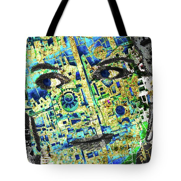 Tote Bag featuring the mixed media Princess by Tony Rubino