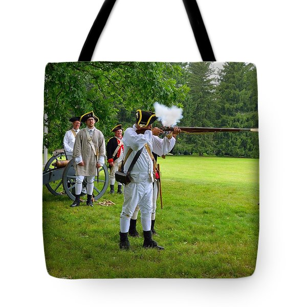 Tote Bag featuring the photograph Princeton Battlefield 2 by Steven Richman
