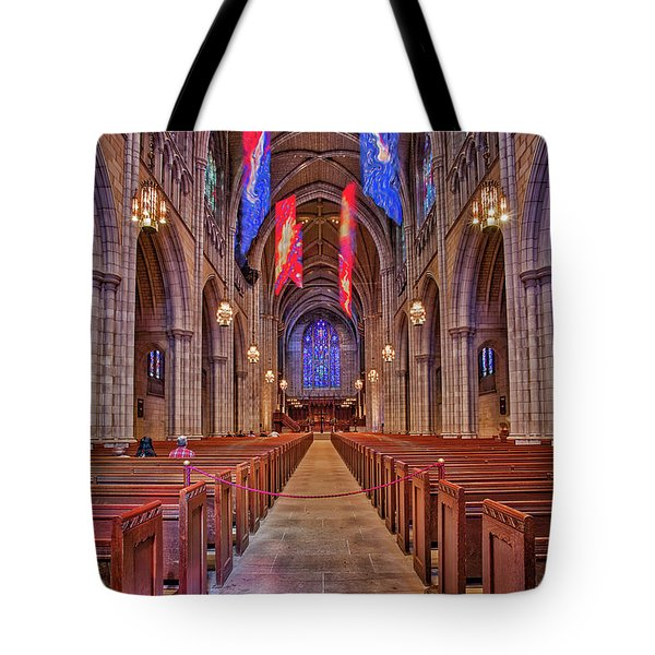 Tote Bag featuring the photograph Princeton University Chapel by Susan Candelario
