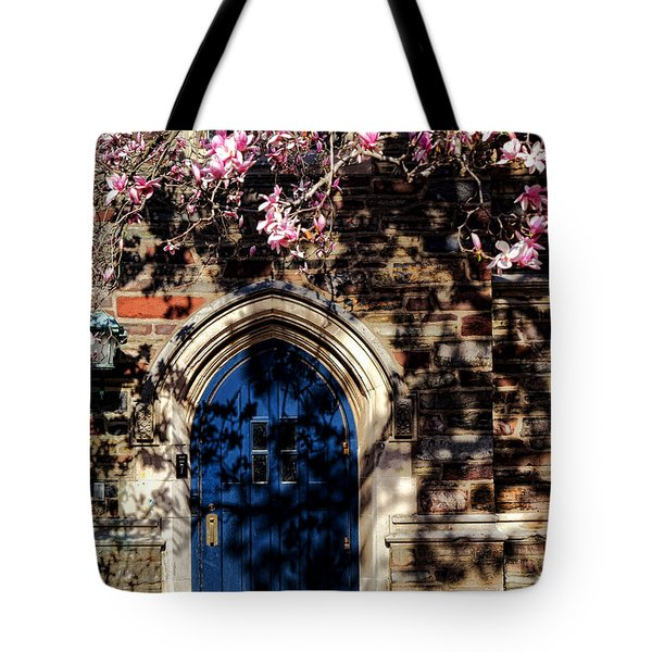 Princeton University Door And Magnolia Tote Bag