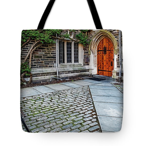 Tote Bag featuring the photograph Princeton University Foulke Hall by Susan Candelario