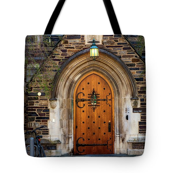 Tote Bag featuring the photograph Princeton University Henry Hall by Susan Candelario