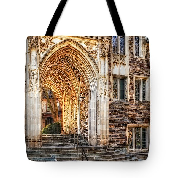 Tote Bag featuring the photograph Princeton University Lockhart Hall Dorms by Susan Candelario