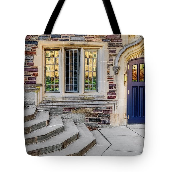 Tote Bag featuring the photograph Princeton University Lockhart Hall by Susan Candelario