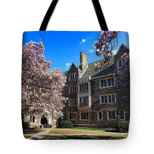 Princeton University Pyne Hall Courtyard Tote Bag