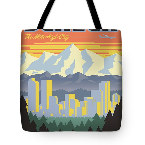 Denver Poster - Vintage Travel Tote Bag