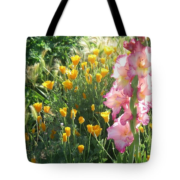 Priscilla With Poppies Tote Bag