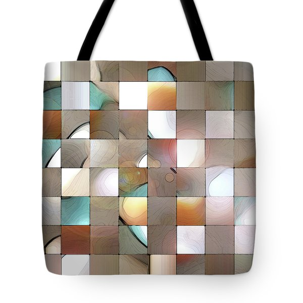 Tote Bag featuring the digital art Prism 1 by Gina Harrison