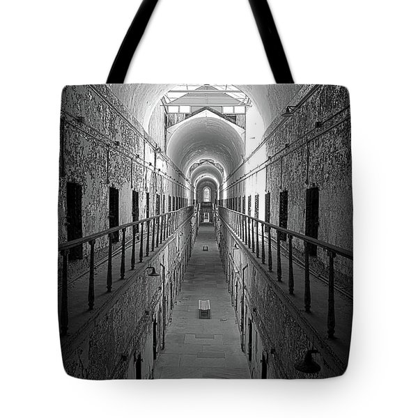 Prison Cell Hall Tote Bag