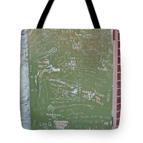 Prison Graffiti 2 Tote Bag