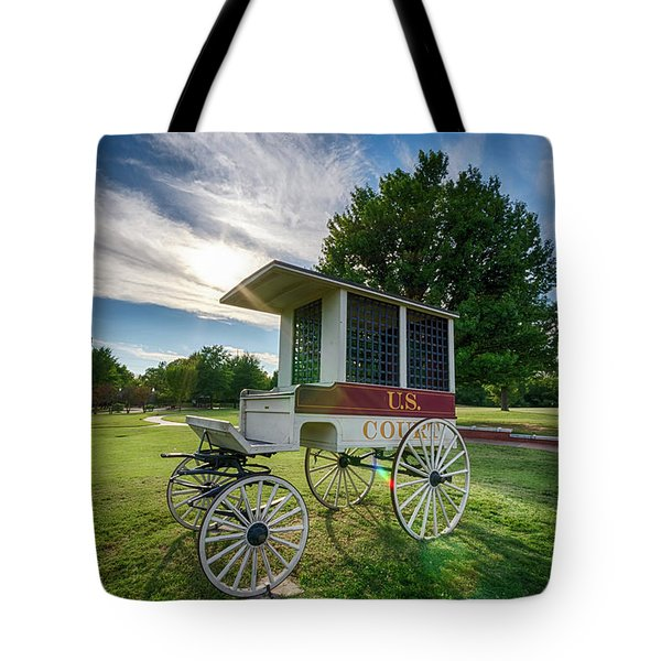 Tote Bag featuring the photograph Prison Wagon by James Barber