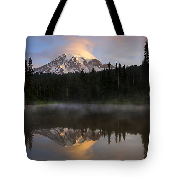 Pristine Reflections Tote Bag by Mike  Dawson