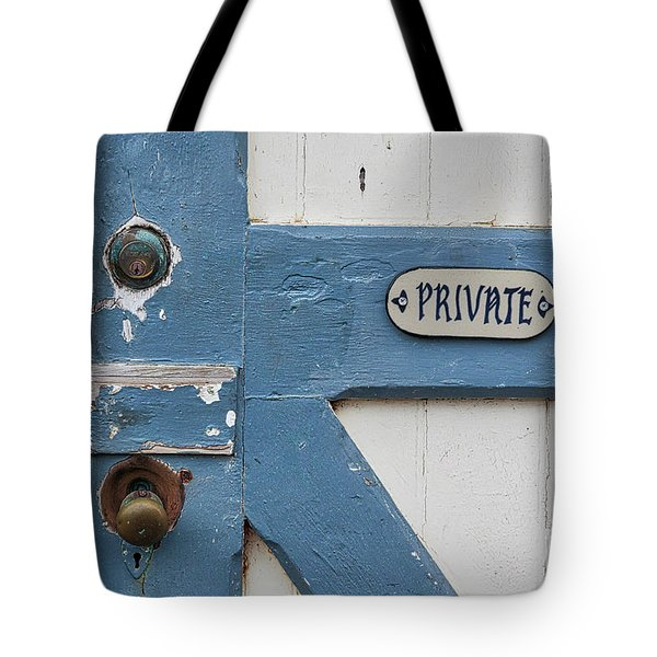 Tote Bag featuring the photograph Private by Ana V Ramirez