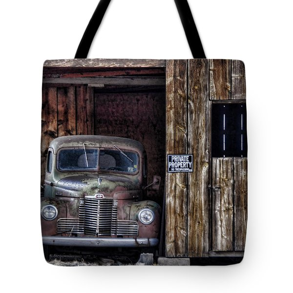 Private Parking Tote Bag by Ken Smith