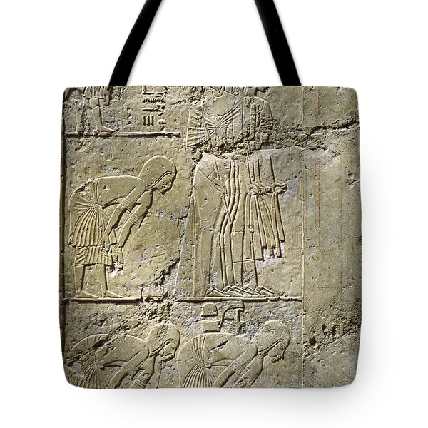 Private Tombs -painting West Wall Tomb Of Ramose T55 - Stock Image - Fine Art Print - Thebes Tote Bag