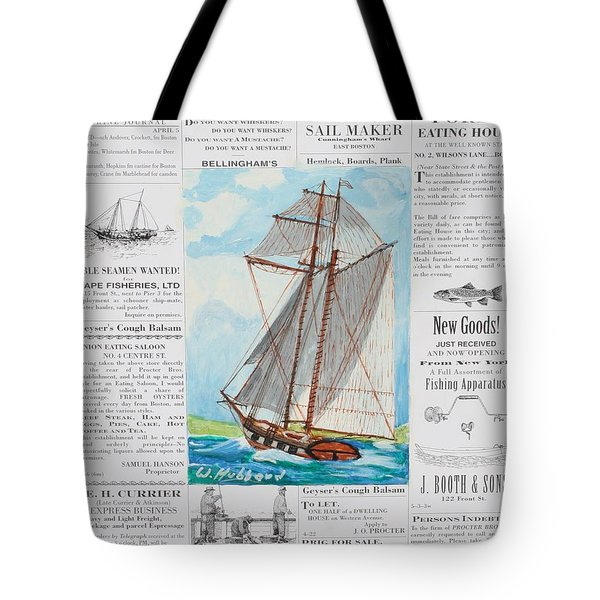 Privateer Off Charleston, Sc Tote Bag