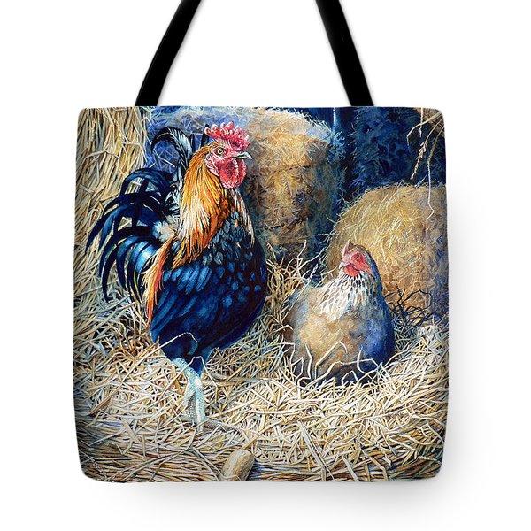 Prized Rooster Tote Bag by Hanne Lore Koehler
